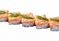 Суши-кейк с лососем