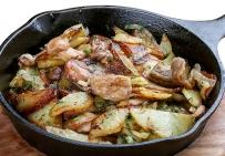Картофель жареный с грибочками